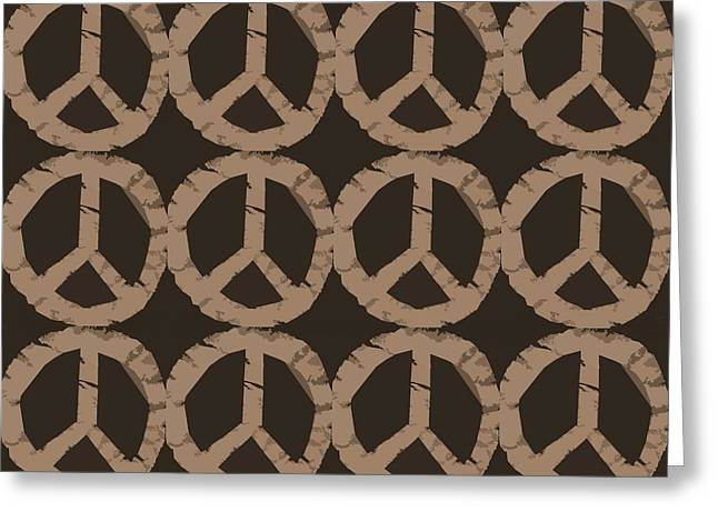 Peace Symbol Collage Greeting Card by Michelle Calkins
