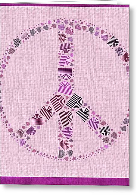 """peace Love Sign"" Greeting Cards - Peace Symbol Design - 42ct2b Greeting Card by Variance Collections"