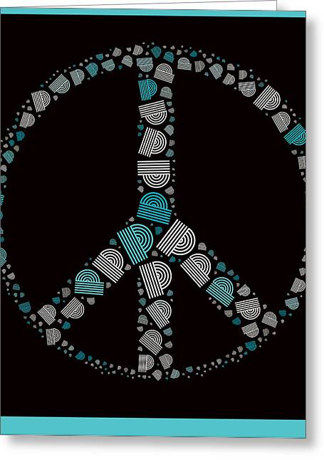 """peace Love Sign"" Greeting Cards - Peace Symbol Design - 87d Greeting Card by Variance Collections"