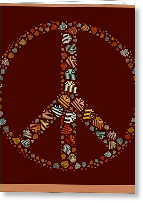 """peace Love Sign"" Greeting Cards - Peace Symbol Design - s05d Greeting Card by Variance Collections"