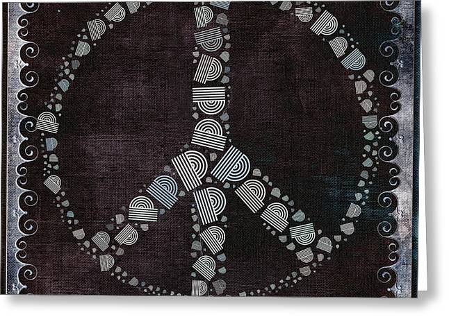 Peace Symbol Greeting Cards - Peace Symbol Design - s79bt2 Greeting Card by Variance Collections