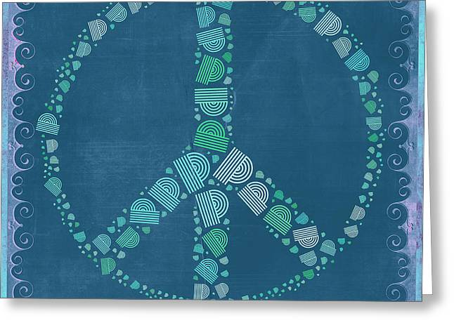 Peace Symbol Design - tq19at02 Greeting Card by Variance Collections