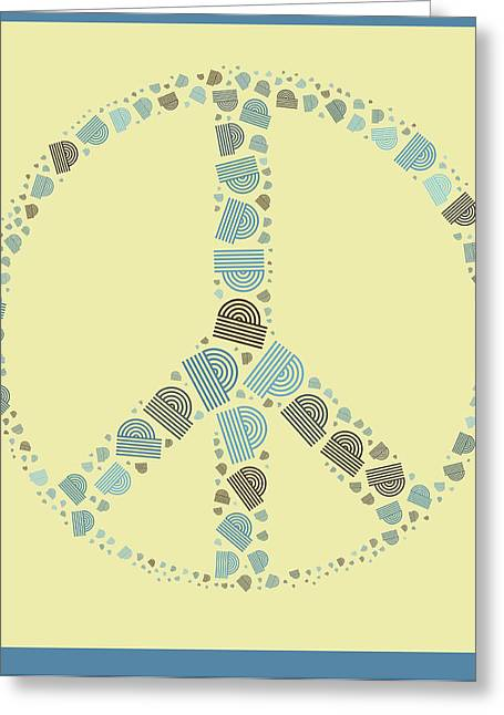 """peace Love Sign"" Greeting Cards - Peace Symbol Design - y87d Greeting Card by Variance Collections"