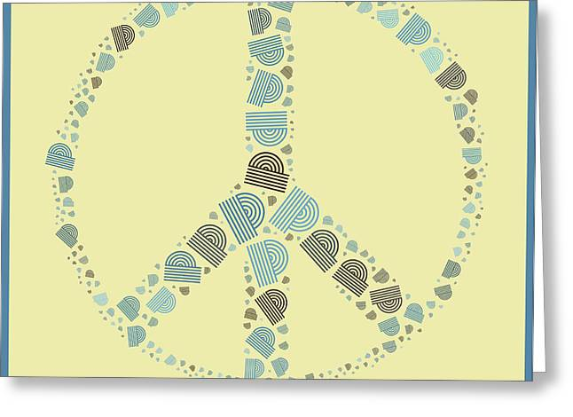 Peace Symbol Design - y87d Greeting Card by Variance Collections