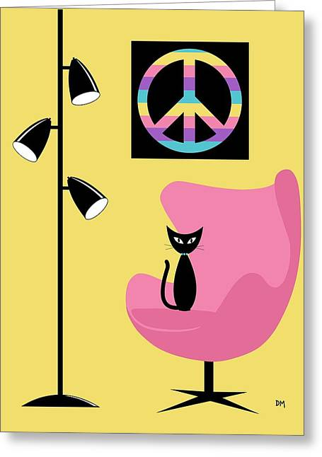 Peace Symbol Greeting Cards - Peace Symbol Greeting Card by Donna Mibus