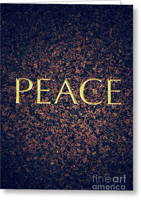Languages Greeting Cards - Peace Greeting Card by Tim Gainey