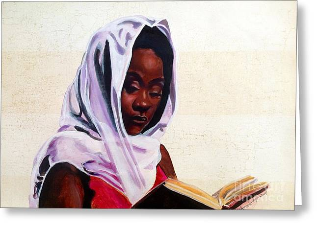 African-american Paintings Greeting Cards - Peace Within Greeting Card by Clayton Singleton