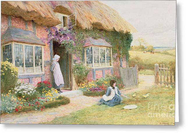 Peaceful Afternoon Greeting Card by Arthur Claude Strachan