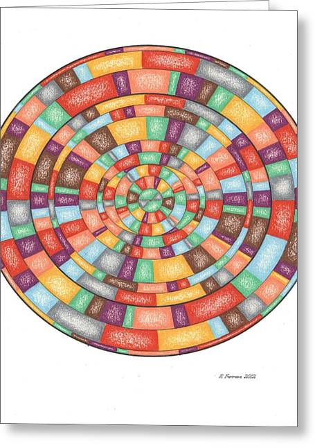 Sacred Drawings Greeting Cards - Peaceful Afternoon Template Greeting Card by Ruthie Ferrone