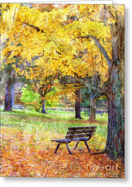 Outdoor Images Greeting Cards - Peaceful Autumn Greeting Card by Darren Fisher