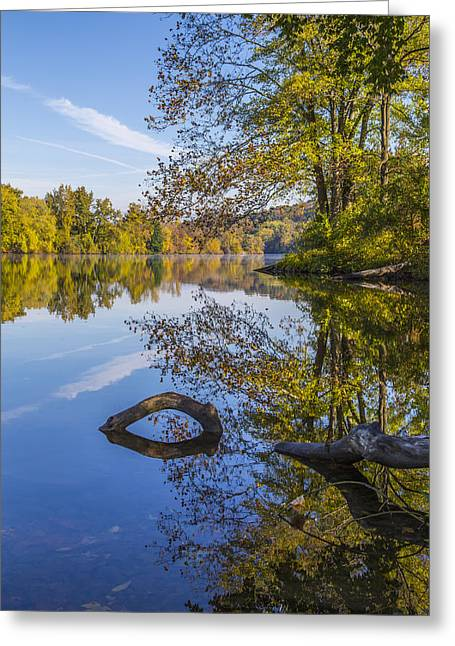 Peaceful Autumn Greeting Card by Karol Livote