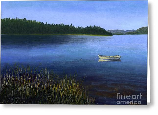 Pacific Northwest Pastels Greeting Cards - Peaceful Bay Greeting Card by Ginny Neece