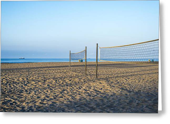Sporting Equipment Greeting Cards - Peaceful Beach Morning Greeting Card by Joseph S Giacalone