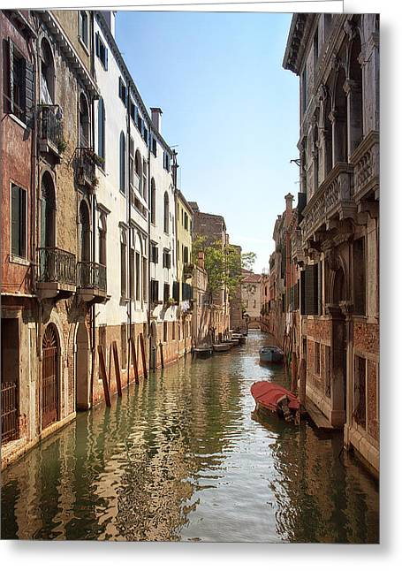 Peaceful Canal Greeting Card by Kim Andelkovic