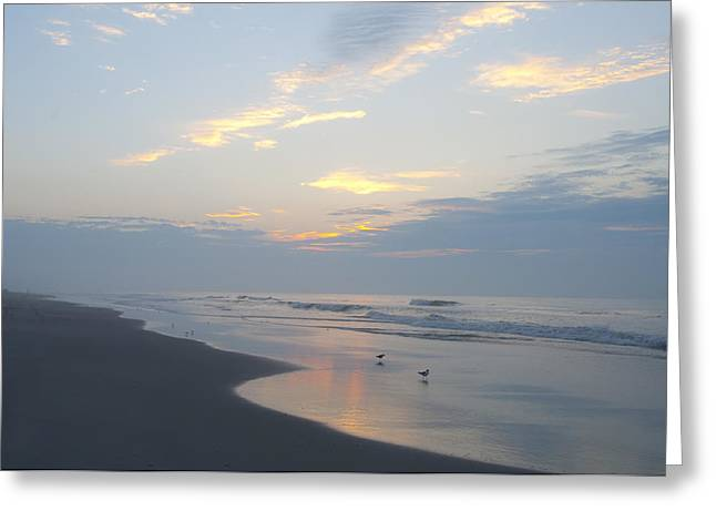 York Beach Greeting Cards - Peaceful Dawn Greeting Card by Bill Cannon