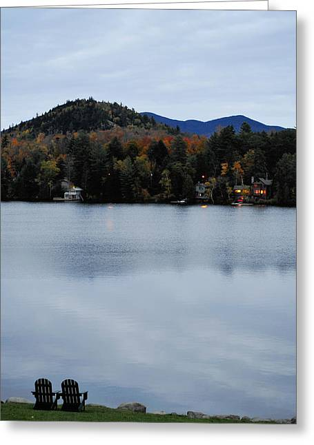 Dusk By The Lake Greeting Cards - Peaceful Evening at the Lake Greeting Card by Terry DeLuco