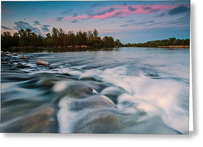 Pink Clouds Greeting Cards - Peaceful evening Greeting Card by Davorin Mance