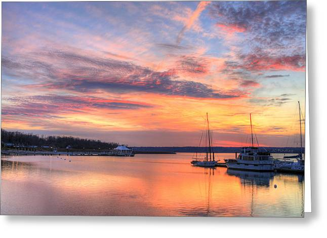 Md Greeting Cards - Peaceful Evening Greeting Card by JC Findley