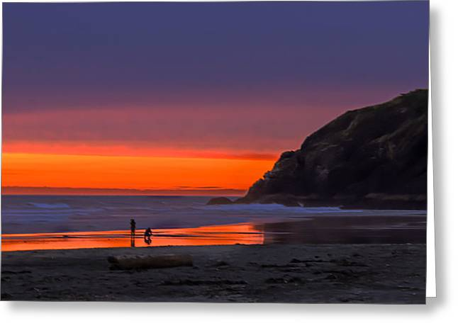 Peaceful Evening Greeting Card by Robert Bales