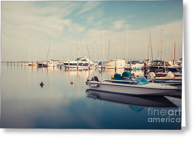 South Italy Greeting Cards - Peaceful Harbour Greeting Card by Hannes Cmarits
