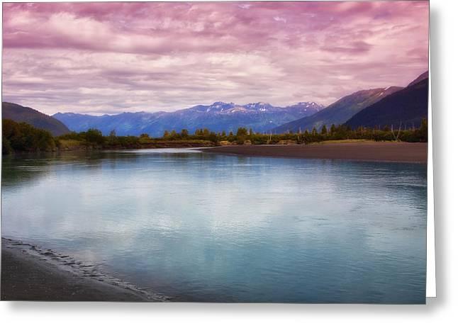 Peaceful In Alaska Greeting Card by Kim Hojnacki