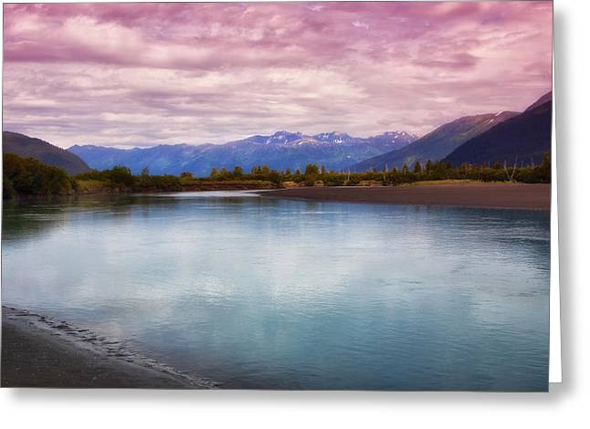 Kim Photographs Greeting Cards - Peaceful in Alaska Greeting Card by Kim Hojnacki