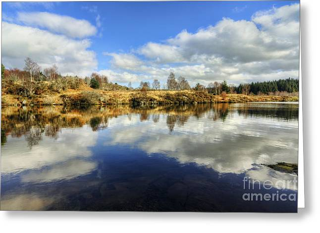 Water Scape Greeting Cards - Peaceful Lake Greeting Card by Ian Mitchell