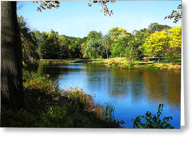 Peaceful Lake Greeting Card by Susan Savad