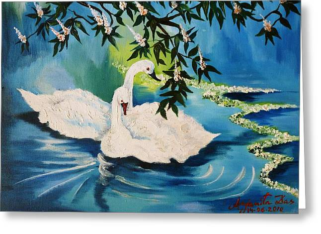 Peaceful Life Greeting Card by Anjanita Das