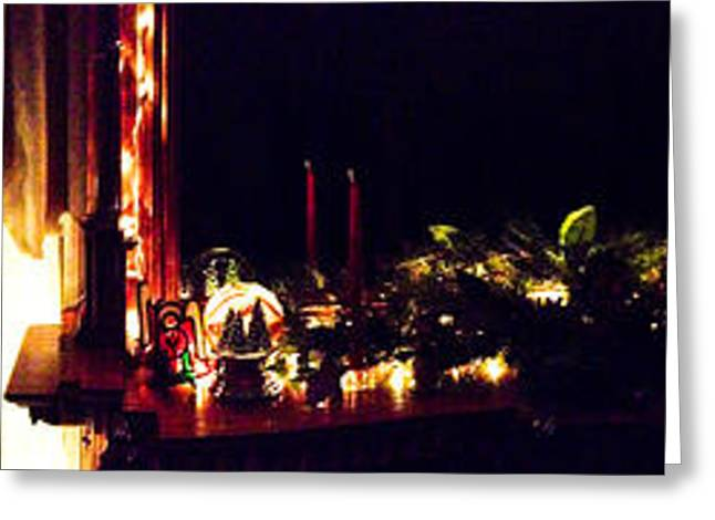 Christmas Eve Greeting Cards - Peaceful Lights Greeting Card by Optical Playground By MP Ray