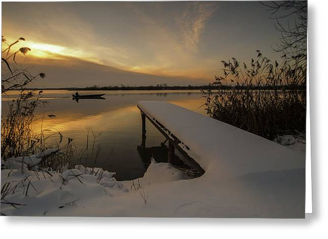 Cold Greeting Cards - Peaceful morning  Greeting Card by Davorin Mance