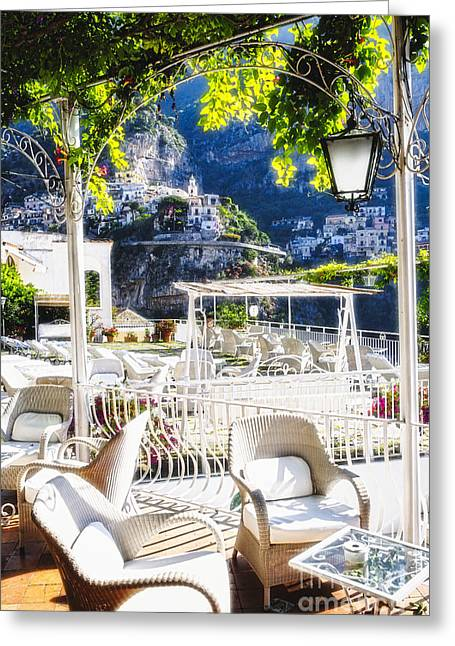 Trellis Greeting Cards - Peaceful Morning in Positano Greeting Card by George Oze