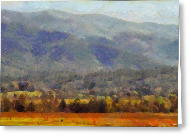 National Parks Mixed Media Greeting Cards - Peaceful Morning In The Smoky Mountains Greeting Card by Dan Sproul