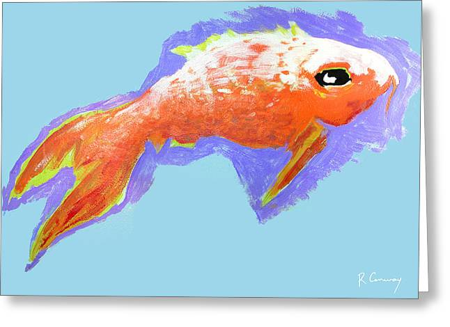 Robert Conway Greeting Cards - Peaceful Orange Goldfish Greeting Card by Robert Conway