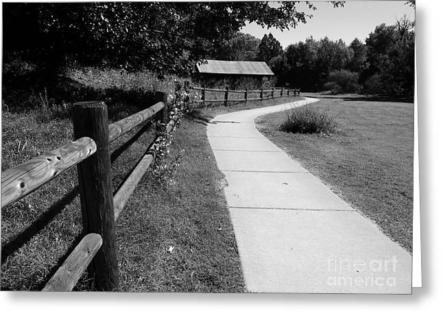Red Rock Crossing Greeting Cards - Peaceful Path Greeting Card by R Dupras