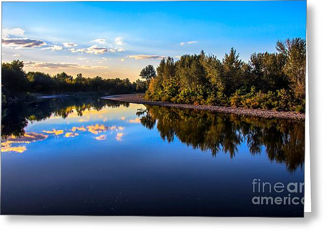 Scenic River Photography Greeting Cards - Peaceful Payette River Greeting Card by Robert Bales