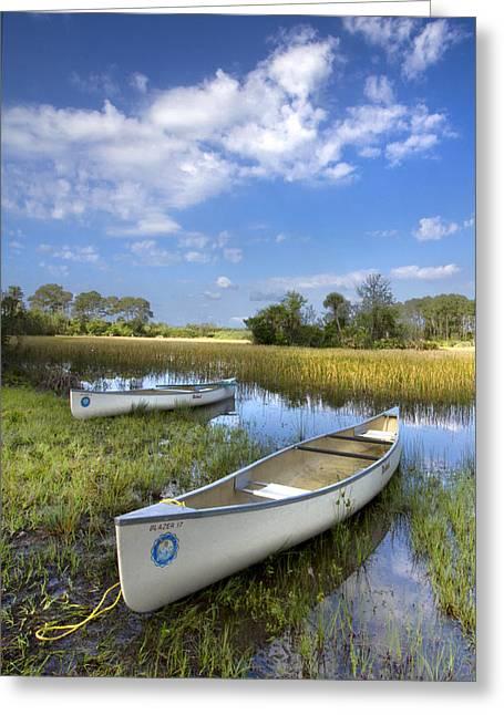 Coastal Preserve Greeting Cards - Peaceful Prairie Greeting Card by Debra and Dave Vanderlaan