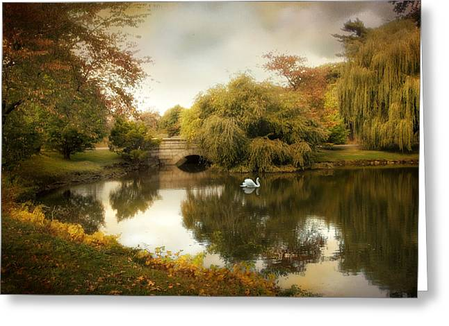 Autumn Landscape Digital Greeting Cards - Peaceful Presence Greeting Card by Jessica Jenney