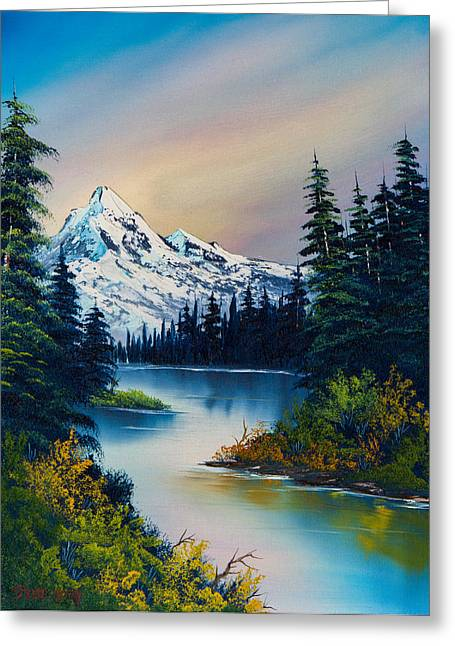 Bob Ross Paintings Greeting Cards - Tranquil Reflections Greeting Card by C Steele