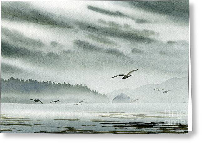 Landscape Framed Prints Greeting Cards - Peaceful Shore Greeting Card by James Williamson