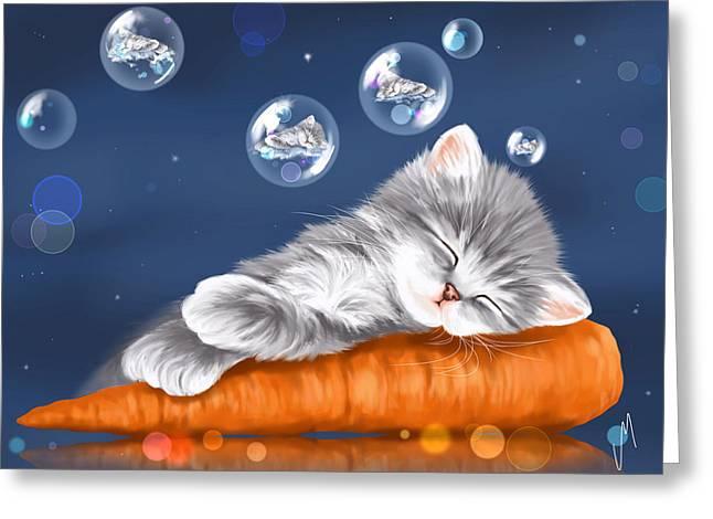 Peaceful Sleep Greeting Card by Veronica Minozzi