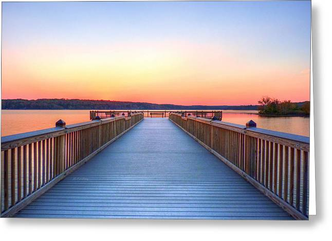 Fort River Greeting Cards - Peaceful Spot Greeting Card by JC Findley