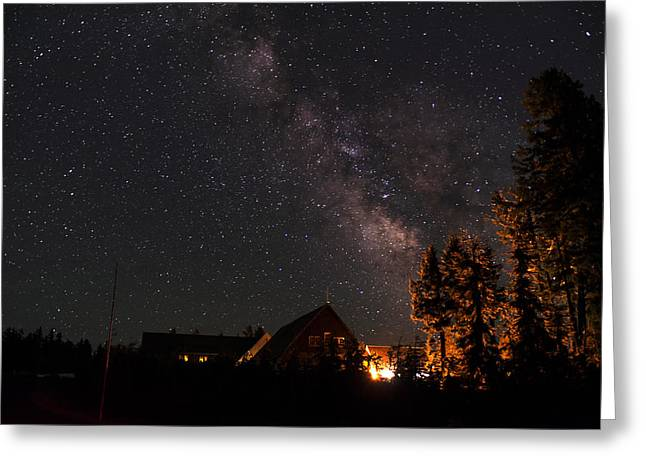 Crater Lake Twilight Greeting Cards - Peaceful Starry Night Greeting Card by Yoshiki Nakamura