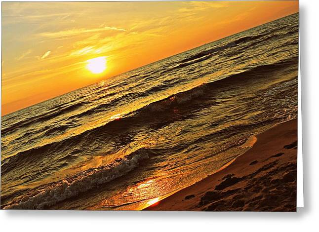 Sand Greeting Cards - Peaceful Sun Greeting Card by Dawdy Imagery