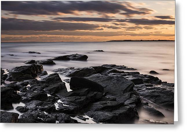 Water Flowing Greeting Cards - Peaceful Sunset Greeting Card by Andrew Pacheco