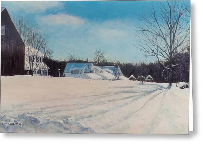 Photorealism Greeting Cards - Peaceful Village Greeting Card by Nan McCarthy