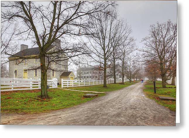 Old Roadway Greeting Cards - Peaceful Village Greeting Card by Wendell Thompson