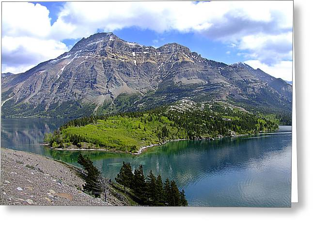 George Cousins Greeting Cards - Peaceful Waterton Greeting Card by George Cousins