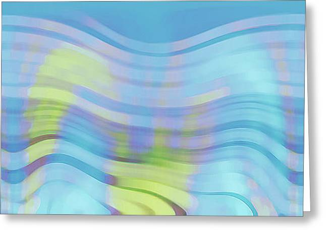 Abstract Waves Greeting Cards - Peaceful Waves Greeting Card by Ben and Raisa Gertsberg