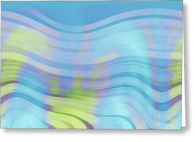 Ben And Raisa Digital Art Greeting Cards - Peaceful Waves Greeting Card by Ben and Raisa Gertsberg